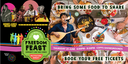 Image for Freedom Feast - community long table dinner for Ref-YOU-gee Week 2019
