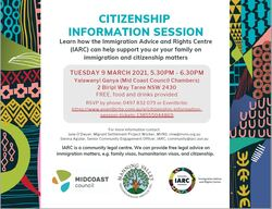 Image for Citizenship Information Session