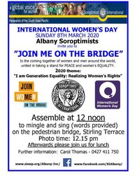 Image for IWD Join Me On The Bridge