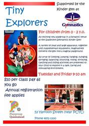 Image for Tiny Explorers - Kinder Gym Playgroup