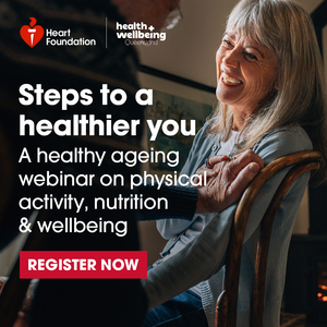 Logo image for Healthy ageing, steps to a healthier you