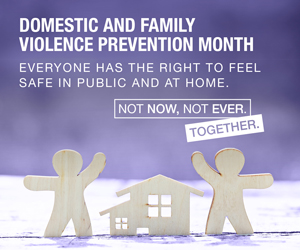 Logo image for Domestic and Family Violence Prevention Month