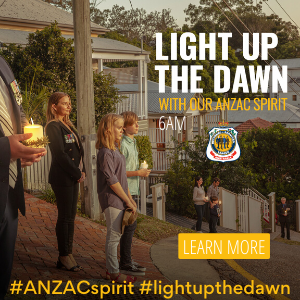 Logo image for ANZAC Light Up the Dawn