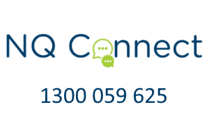 Logo image for Free online and telephone support Flood Support: 1300 059 625 or nqconnect.com.au