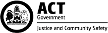 ACT DEPARTMENT OF JUSTICE AND COMMUNITY SAFETY