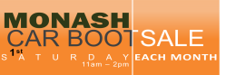 The Monash Car Boot Sale Logo