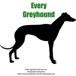 Every Greyhound - supporting greyhound adoption. Logo