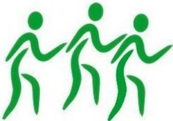 Over 55 Walking Association Incorporated Logo