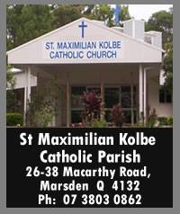 St Maximilian Kolbe Catholic Parish - Marsden Logo