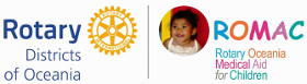 Rotary Oceania Medical Aid for Children (ROMAC) Logo