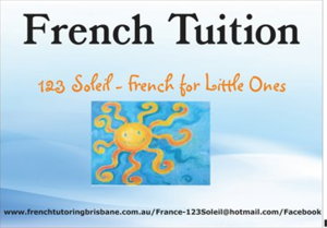 123 Soleil - French for Little Ones Logo